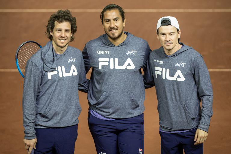 Gaudio, Cañas y Gaudio, al frente del equipo de la Copa Davis