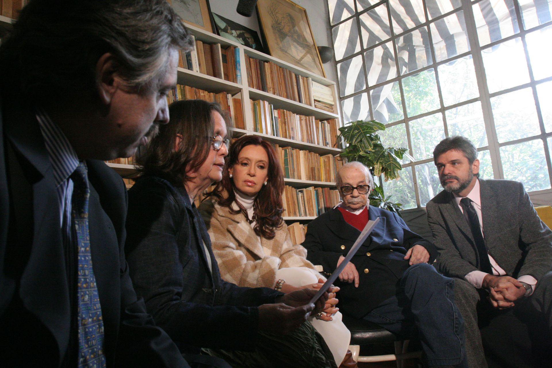 Con el escritor Ernesto Sabato, el 6 de septiembre de 2006