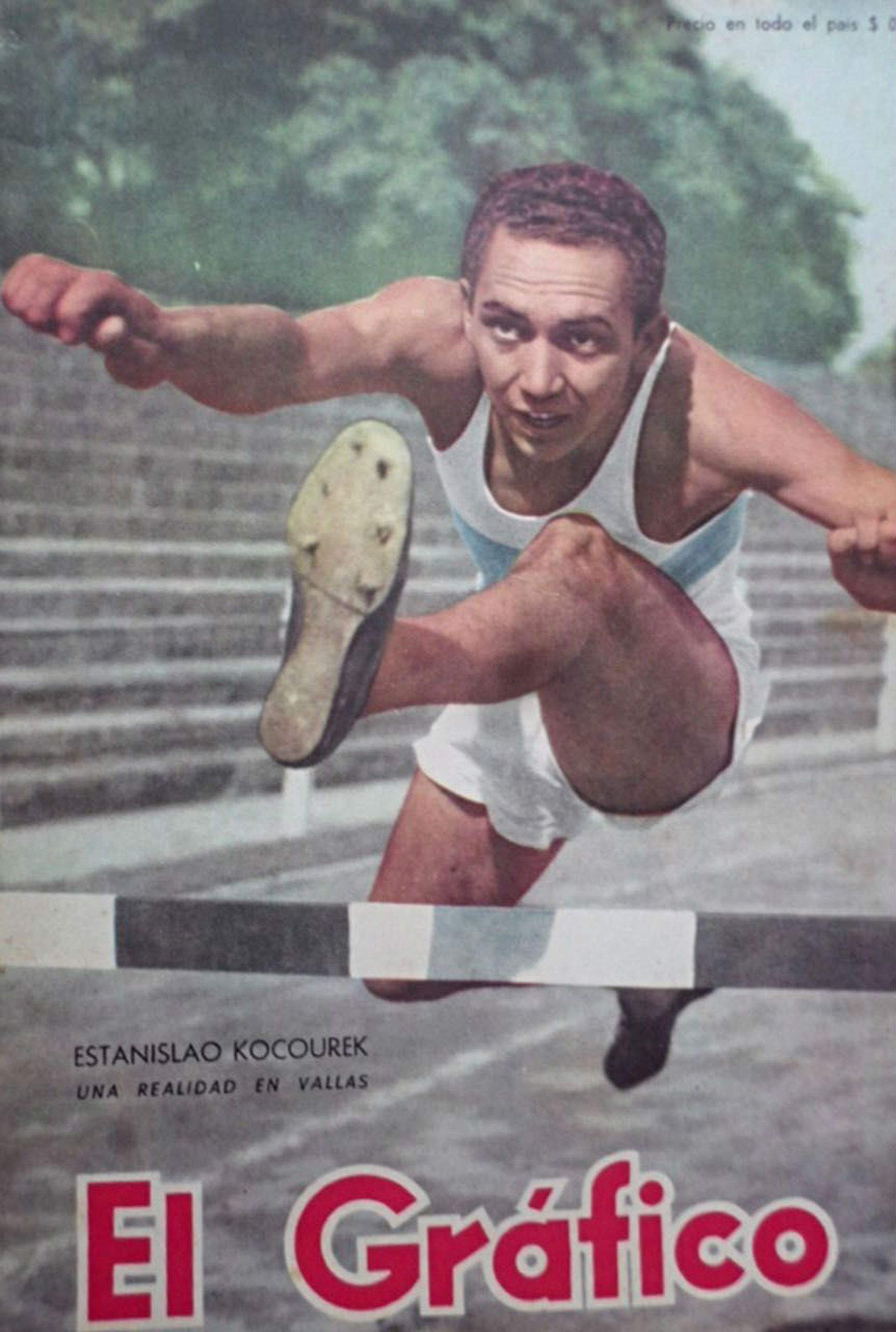 Estanislao Kocourek en la tapa de El Gráfico
