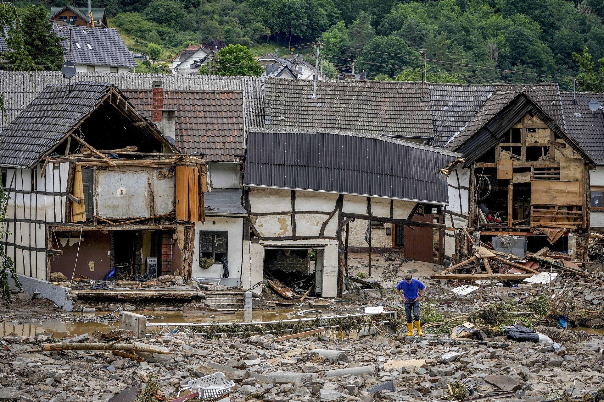 Muchas viviendas quedaron totalmente destruidas