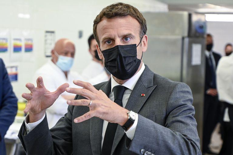 El presidente francés Emmanuel Macron
