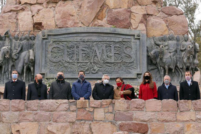 De Pedro junto a Fernández en el homenaje a Güemes