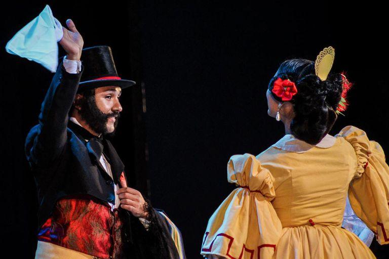 Matías Zomoza y Gabriela Avalos, distinguidos como pareja de baile folklórico