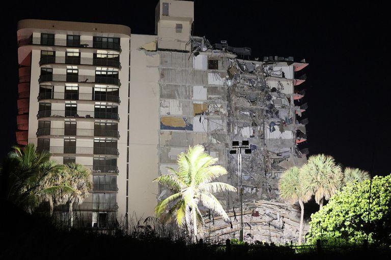 Así quedó el edificio tras el derrumbe