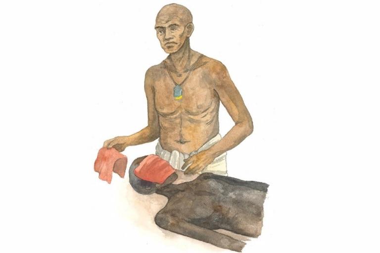 El papiro contiene nuevas evidencias del procedimiento de embalsamamiento del rostro del difunto, donde el rostro se cubre con un trozo de lino rojo y sustancias aromáticas