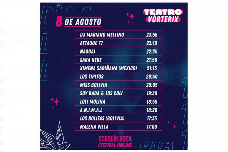 Grilla Cosquín Rock Festival Online