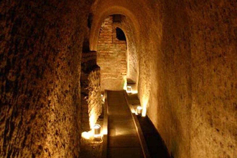 Uno de los túneles de la Manzana de las Luces