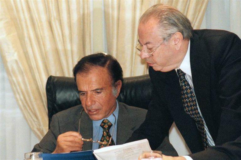 Carlos Menem y Carlos Corach