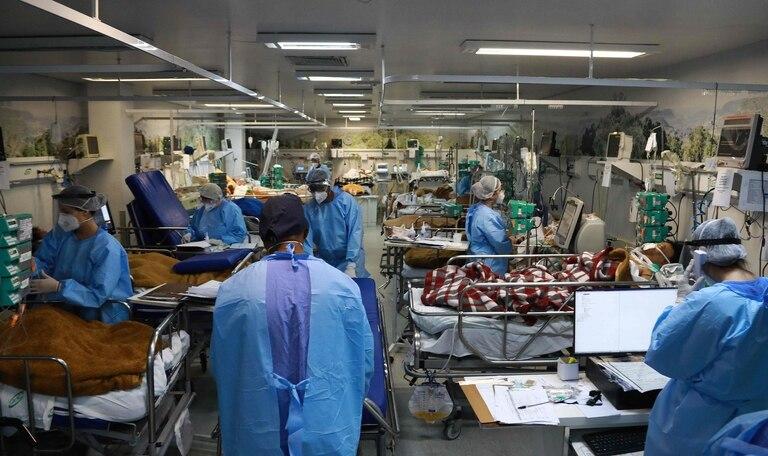 La sala de emergencia del hospital Nossa Senhora da Conceição, en Porto Alegre, repleta de pacientes