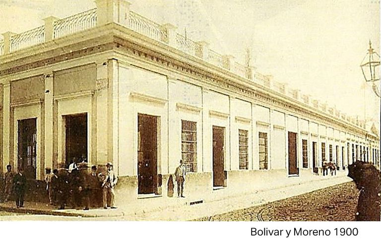 La antigua construcción de Moreno 550 en el 1900