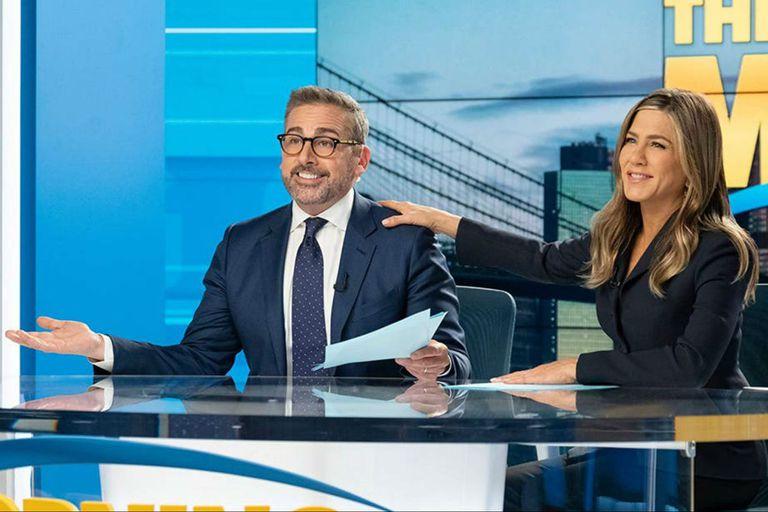 Jennifer Aniston y Steve Carell en The Morning Show