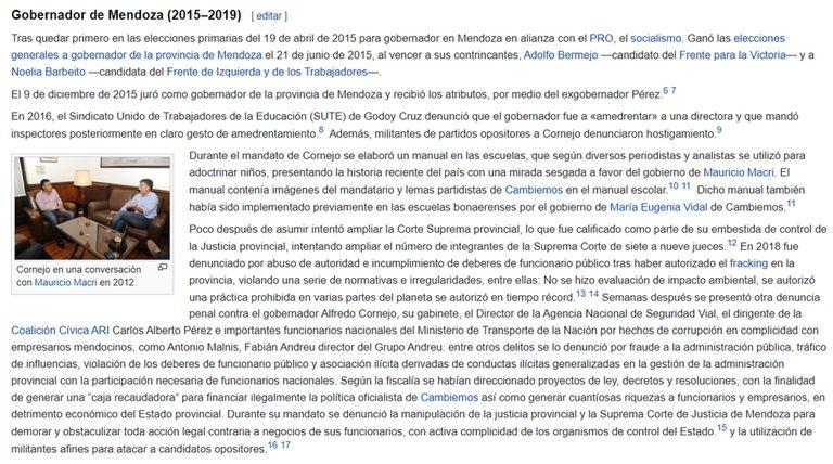 La biografía modificada de Alfredo Cornejo