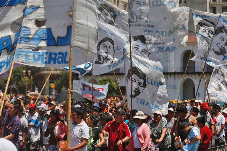 La protesta es contra las políticas económicas del gobierno nacional
