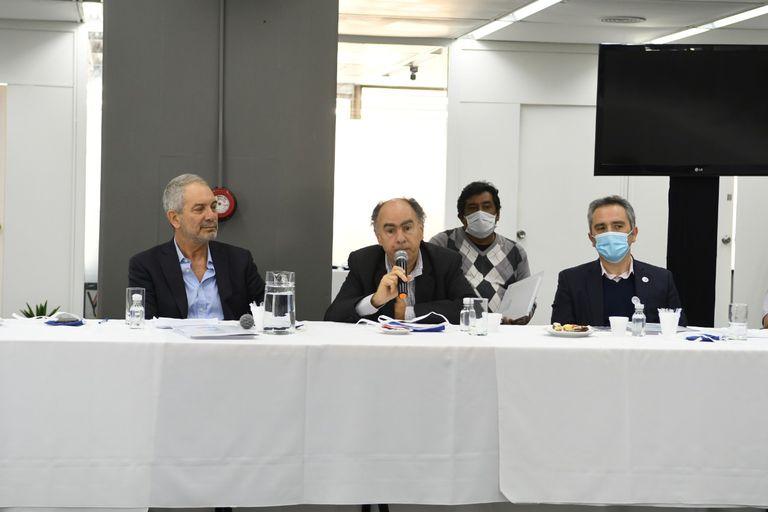Julio Alak, Mario Cafiero y Andrés Larroque
