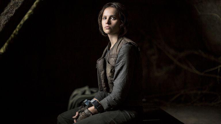 Felicity Jones como Jyn Erso, la antiheroína de Rogue One: una historia de Star Wars