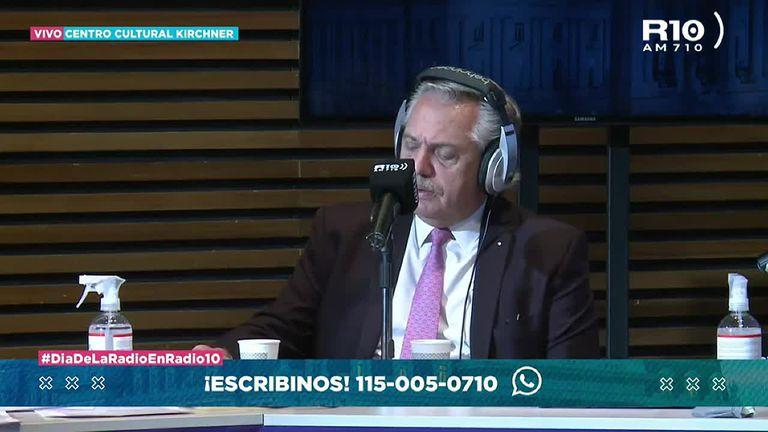 """Alberto Fernández: """"Que haya tenido ese debate es formidable, abre la cabeza"""" - Fuente: Radio 10"""