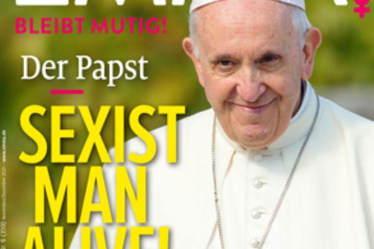 """Una revista eligió al papa Francisco como el """"hombre más misógino del año"""""""