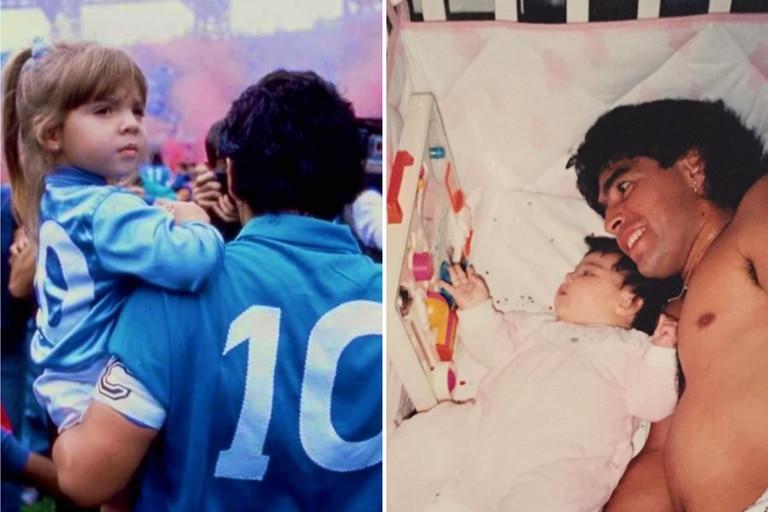 Los hijos de Diego Maradona lo saludaron en las redes sociales por el cumpleaños N° 60