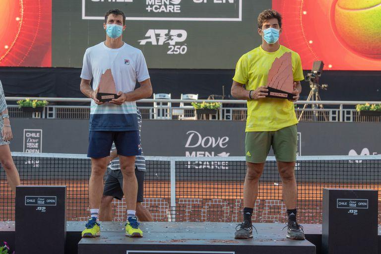 Bagnis y Garín durante la premiación del Chile Open