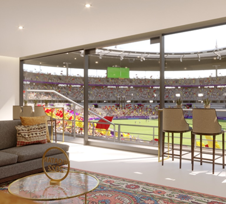 Los paquetes ofrecen espacios de lujo para ver los partidos. Crédito: https://hospitality.fifa.com/