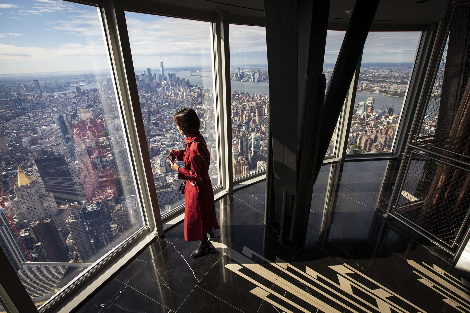Los grandes ventanales ofrecen una vista única de New York