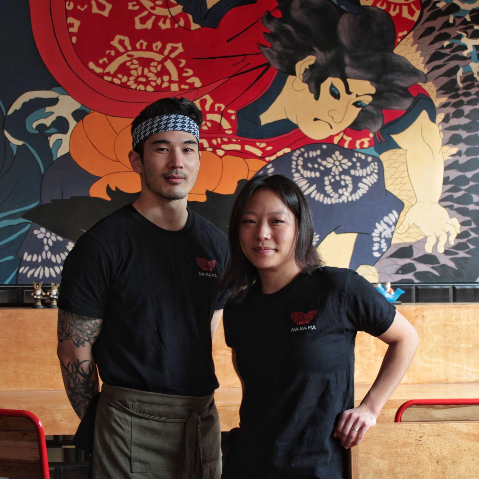 Adrián Asato y Sandra Kim