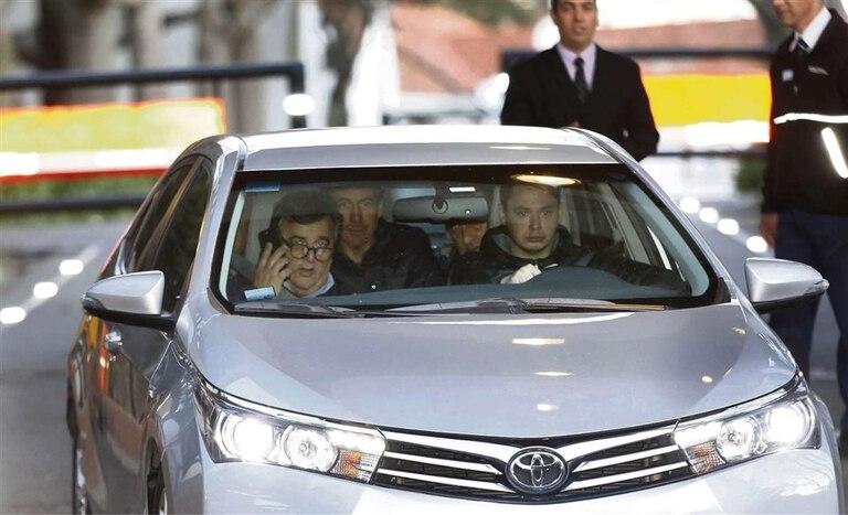 Los radicales Mario Negri, Luis Naidenoff y Ángel Rozas tras la reunión en Olivos