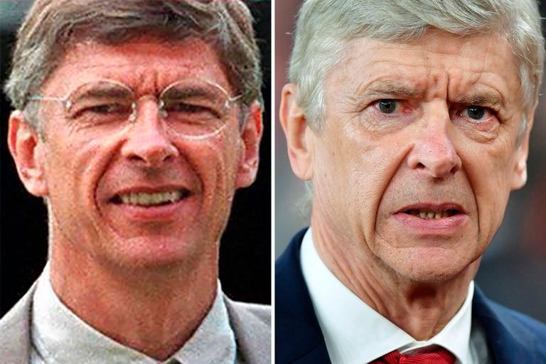Arsene Wenger, su transformación de 1996, año de su llegada a Arsenal, y la actualidad