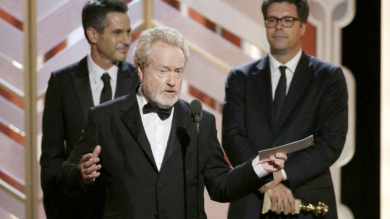 Ridley Scott recibe el premio de Misión rescate a la mejor comedia del año