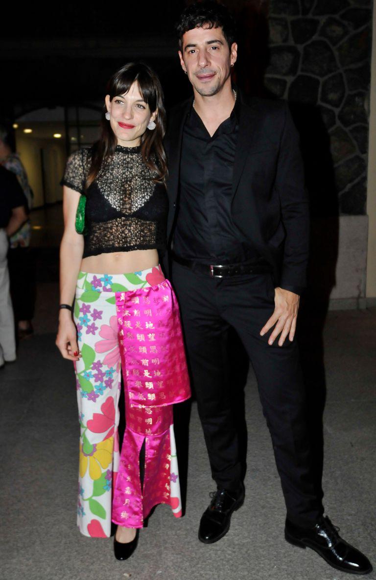 Lamothe tuvo una acompañante especial durante la velada: su novia, la actriz Katia Szechtman