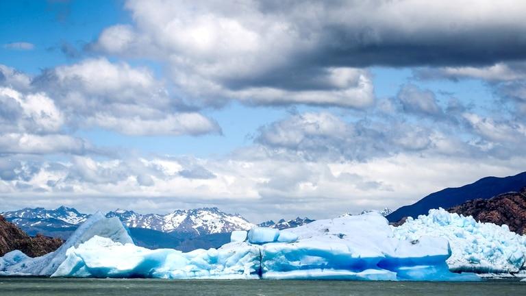 El glaciar Grey es uno de los principales atractivos del Parque Nacional Torres del Paine, en Chile