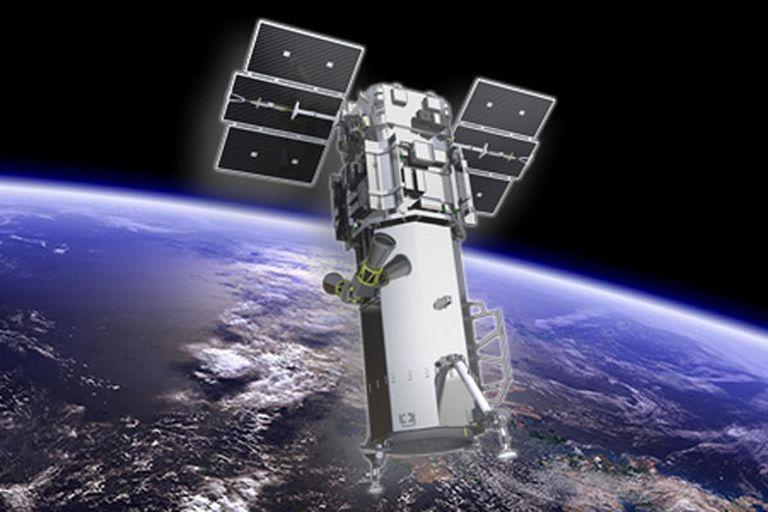 Una representación artística del Worldwide-3, equipado con una cámara más potente para registrar imágenes satelitales comerciales