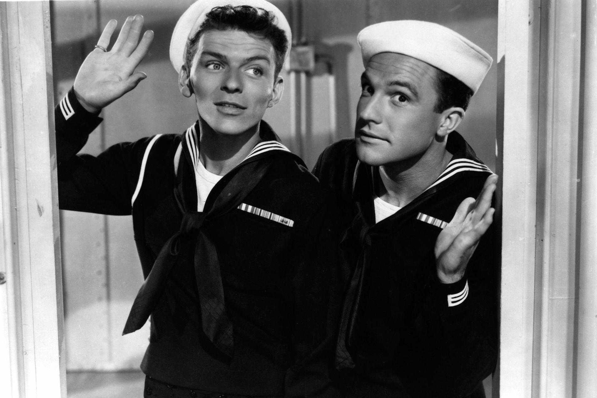 Frank Sinatra y Gene Kelly en Leven anclas