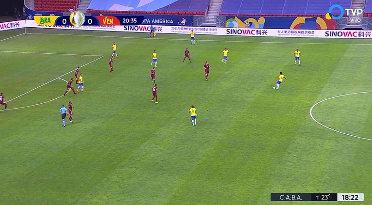 La estática de los partidos de la Copa América está dominados por la publicidad de Sinovac Biotech