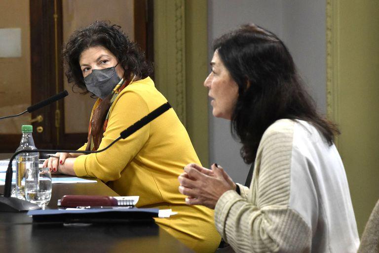 La ministra de Salud, Carla Vizzotti, y la secretaria Legal y Técnica de la Presidencia, Vilma Ibarra