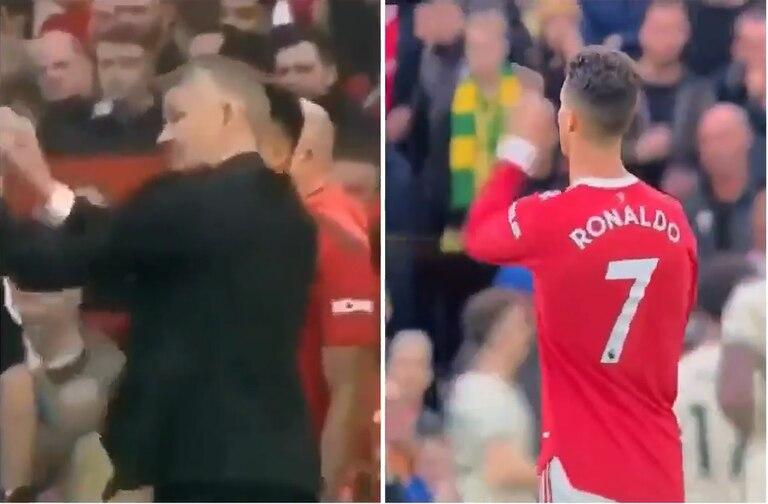 Se filtró un video de la burla de CR7 a su entrenador y agitó la crisis de Manchester United