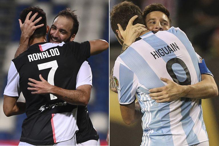 Nadie jugó más partidos con Cristiano Ronaldo y con Lionel Messi que Gonzalo Higuaín; con el portugués compartió varias temporadas entre Real Madrid y Juventus, y con el rosarino la selección, entre 2009 y la Copa del Mundo de Rusia 2018