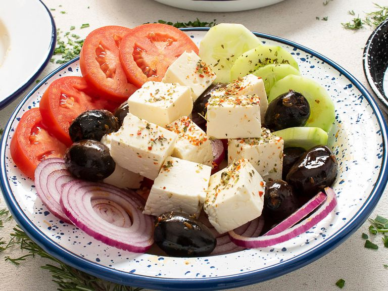 Ensalada griega de queso feta