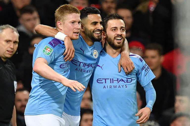 Copa de la Liga: Manchester City venció 3-1 al United en la ida de la semifinal