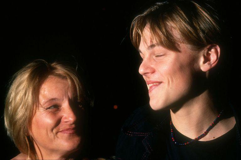 Leonardo DiCaprio cuando recién comenzaba en cine, con su madre, Irmelin Indenbirken