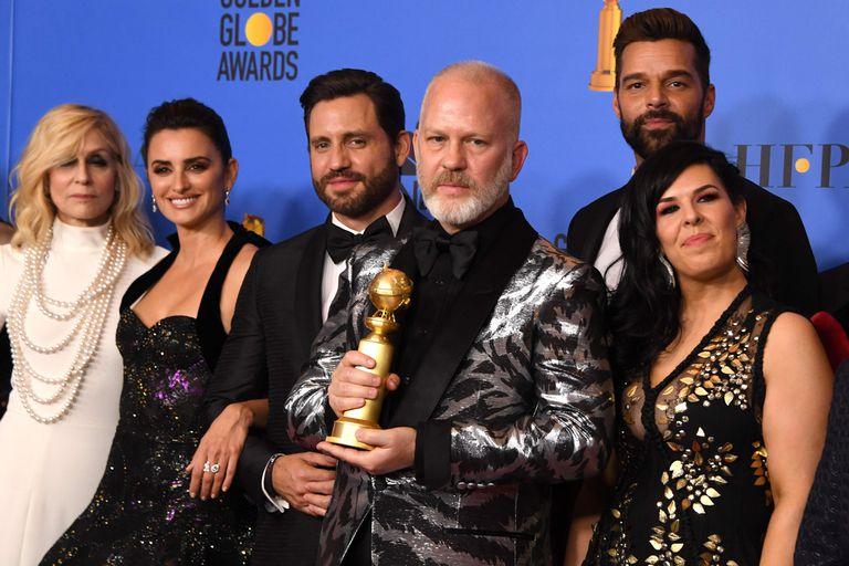 Judith Light, Penélope Cruz, Edgar Ramirez, Ryan Murphy y Ricky Martin