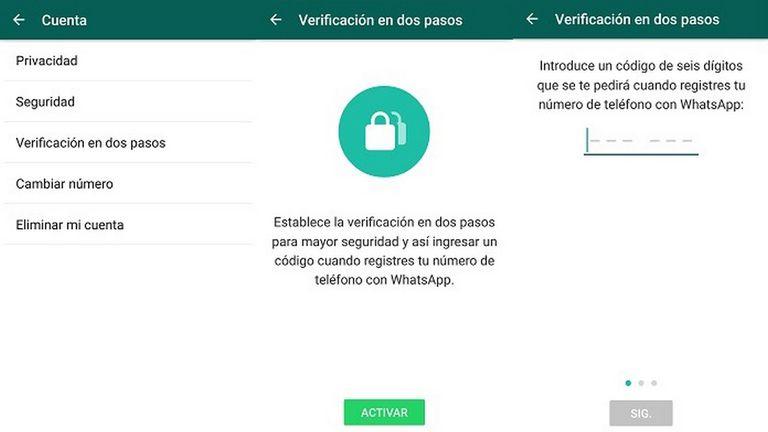 El paso a paso para realizar la configuración de la verificación en dos pasos de WhatsApp