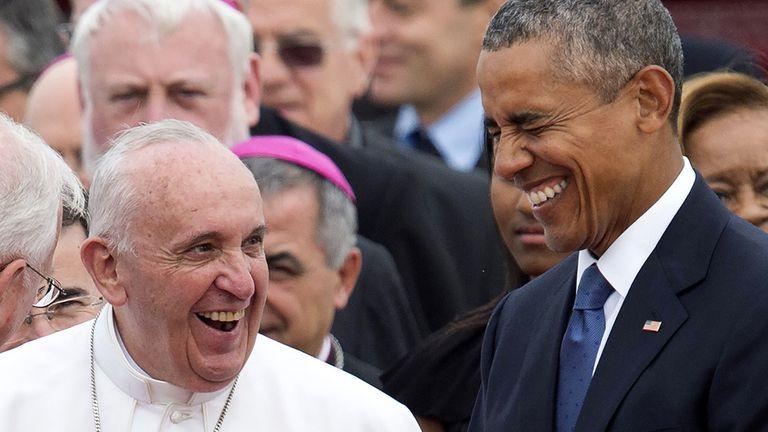 Después de su intervención en la ceremonia de bienvenida, Francisco tendrá una reunión con Barack Obama.