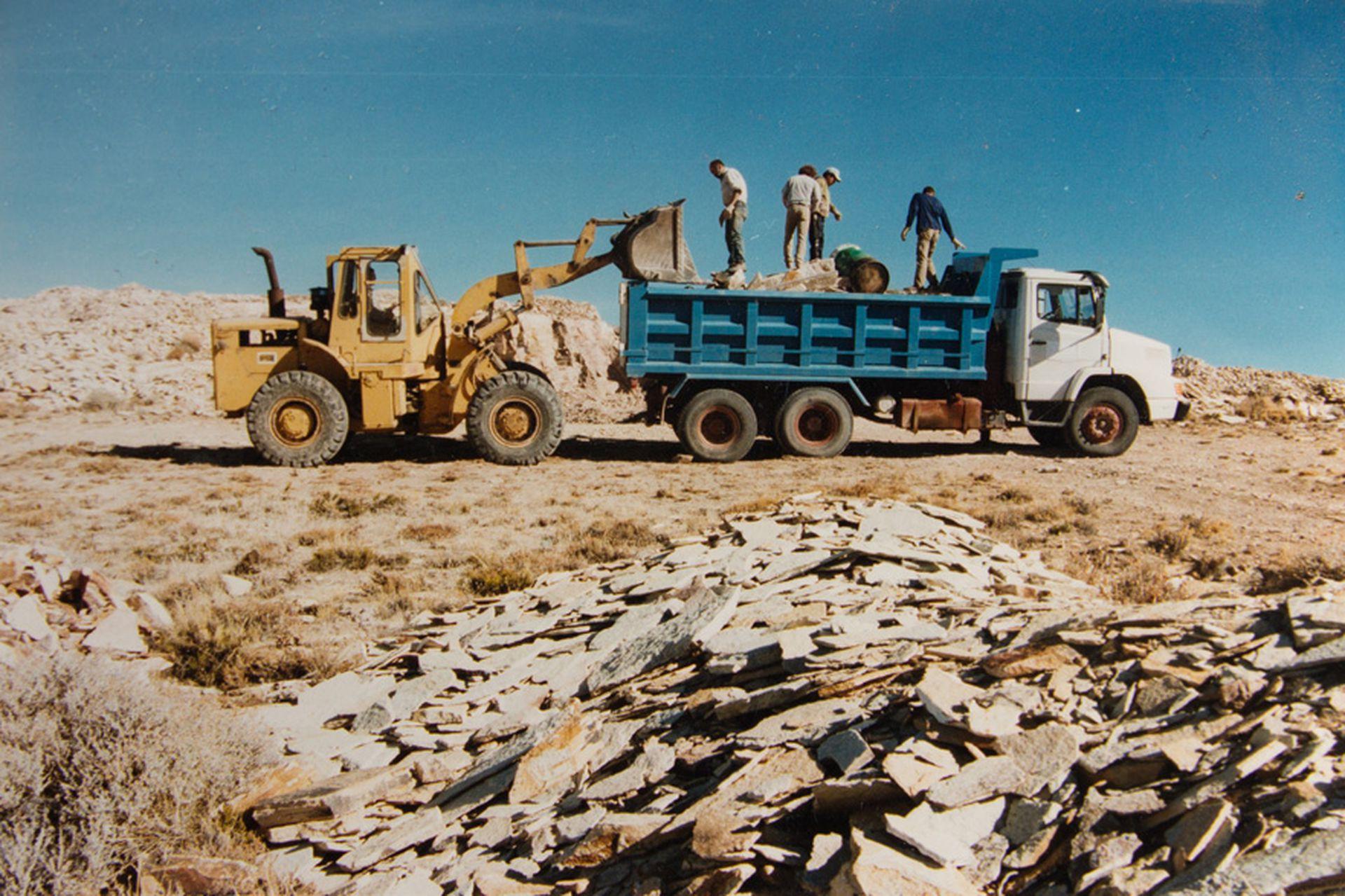 Las canteras donde Federico junta la piedra para trabajar.