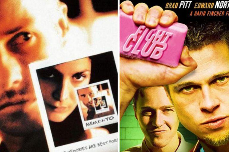 Memento (2000) y Fight Club (1999)