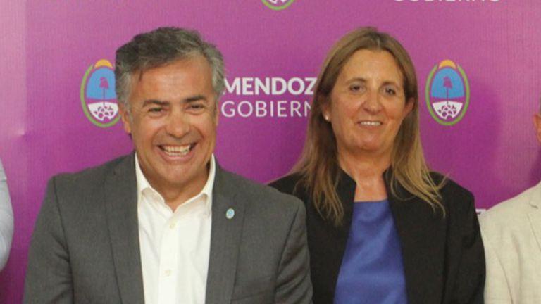 Alfredo Cornejo y Claudia Najul, cuando ocupaban la gobernación y el ministerio de Salud de Mendoza, respectivamente