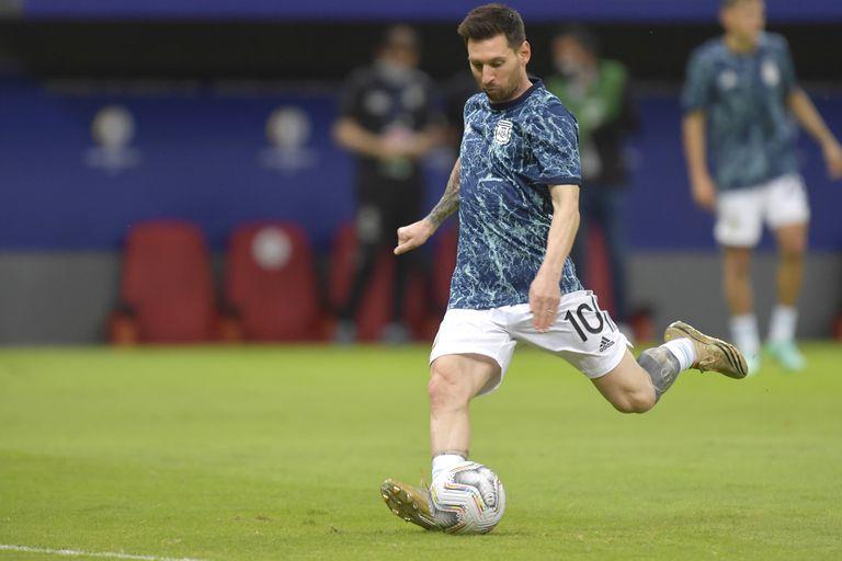 Lionel Messi deslumbró en la previa del partido con Paraguay