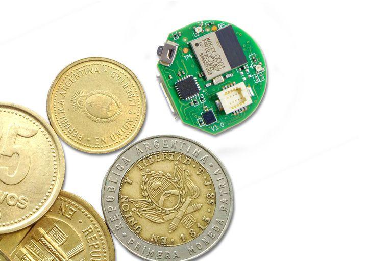 La computadora Spora tiene el tamaño de una moneda
