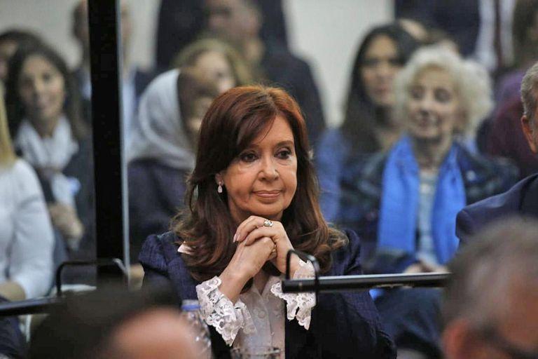 Cristina Kirchner la última vez que estuvo en los tribunales en 2019
