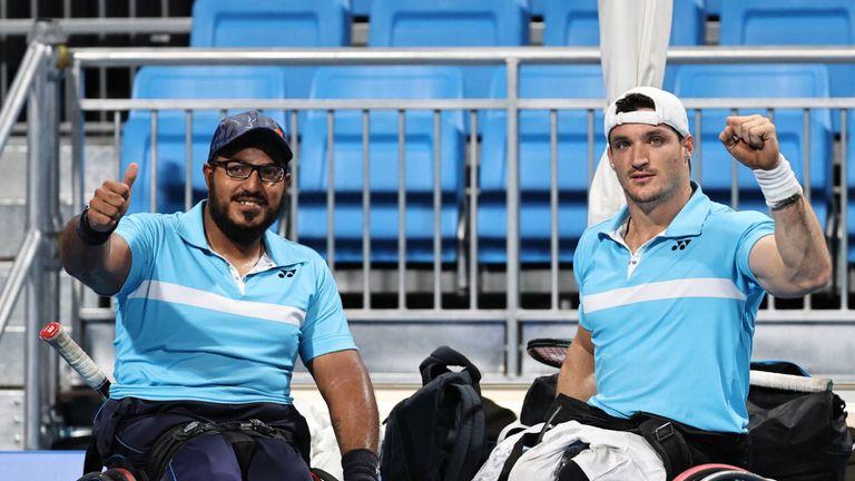 Agustín Ledesma y Gustavo Fernández, dos de los representantes argentinos en el Mundial de tenis adaptado, en Italia.
